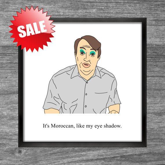 Print of Peep Show character, Mark Corrigan  Square Print