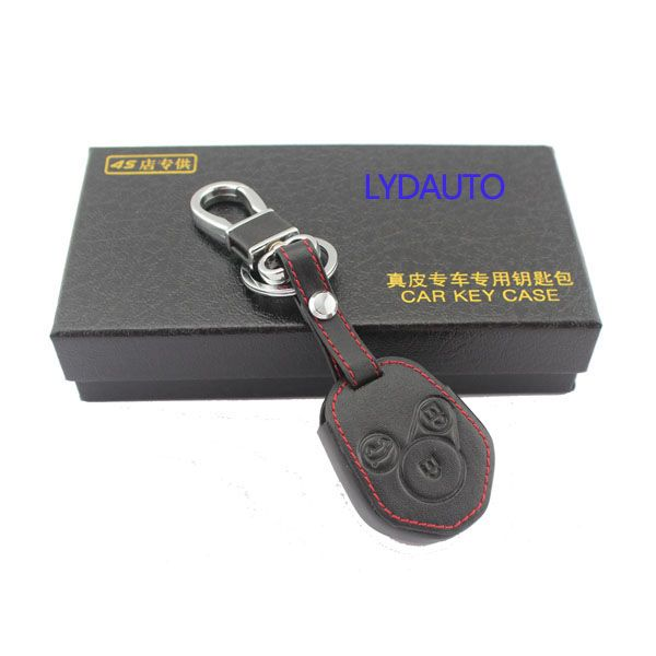 Leather Car Remote Keychain Key Cover Case For Subaru Forester Impreza 3 Button Key Covers Subaru Forester Case Cover