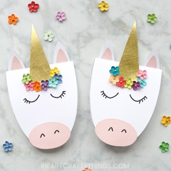 How to Make a Simple DIY Unicorn Card - Unicorn invitations, Unicorn card, Mothers day cards craft, Unicorn invitations diy, Unicorn easter basket, Diy mother's day crafts - These DIY unicorn cards are gorgeous, simple to create and are guaranteed to bring a big smile to someone's face  Whether you are looking for a darling card for Mother's Day or a sweet card to brighten someone's day on any occasion, these pretty DIY unicorn cards fit the bill perfectly