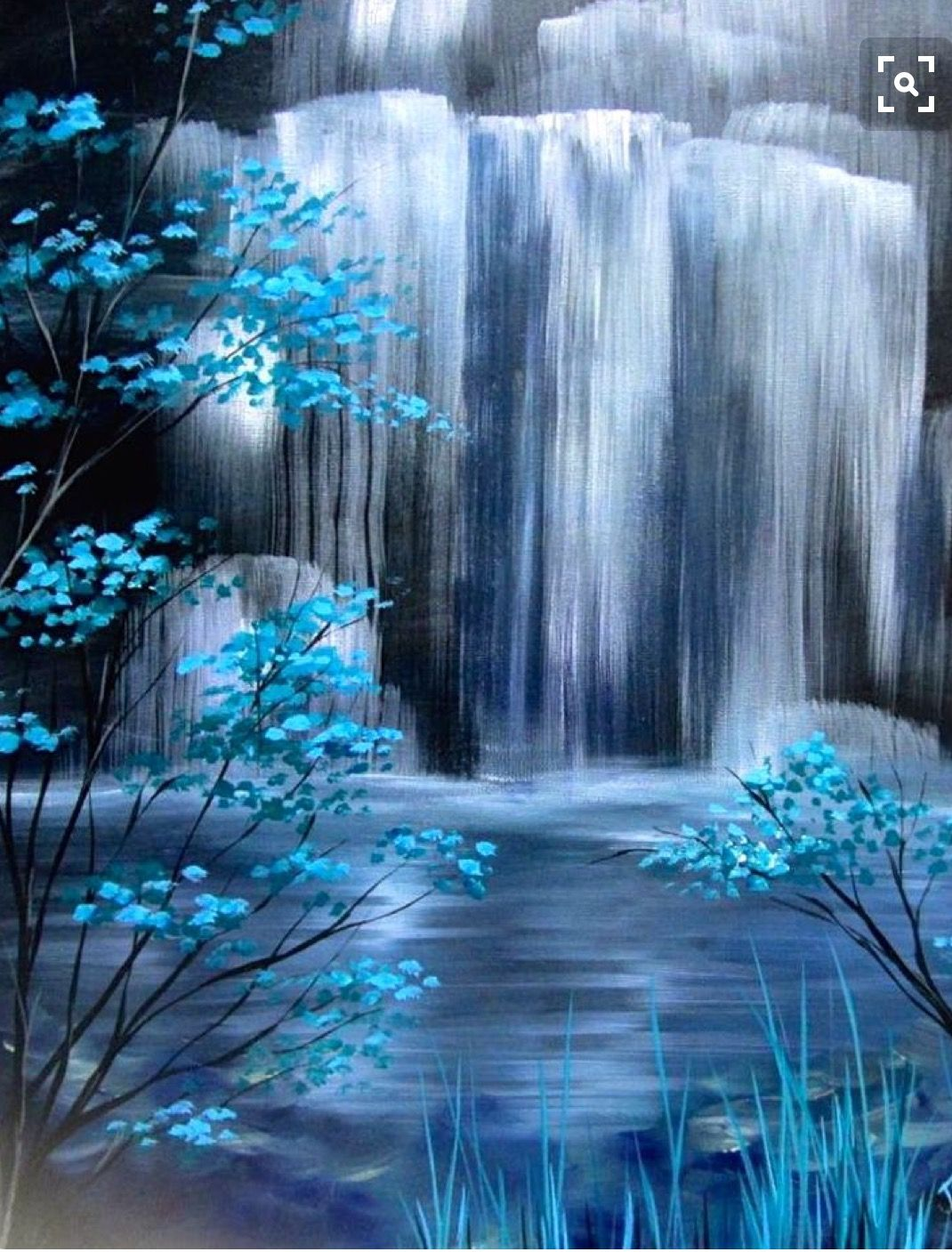 Pin By American High School On Uncorked Artist Sc Waterfall Paintings Landscape Paintings Art Painting