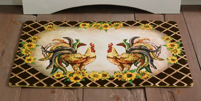 17 Best images about Rooster Kitchen on Pinterest | Dishwasher cover, Floor  runners and Braided rug
