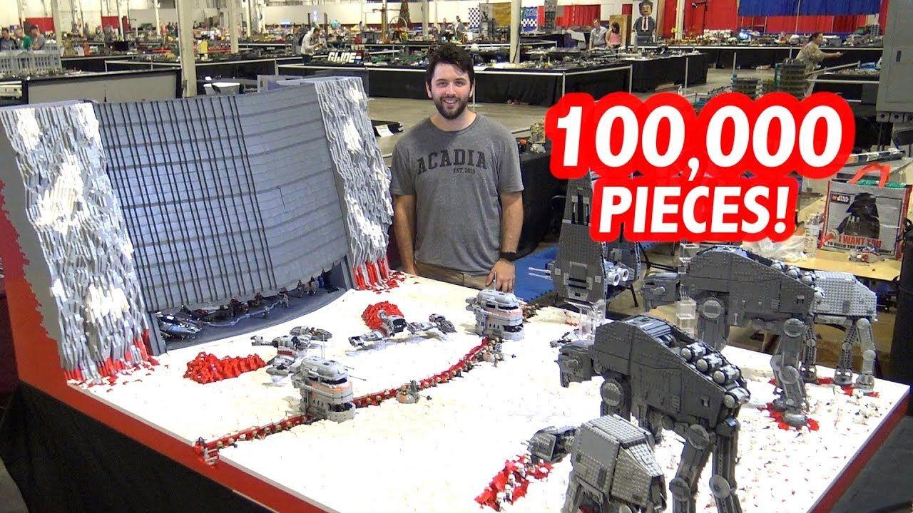 Giant Lego Battle Of Crait By Solid Brix Studios Custom Star Wars Lego Videos Star Wars Planets Lego Star Wars
