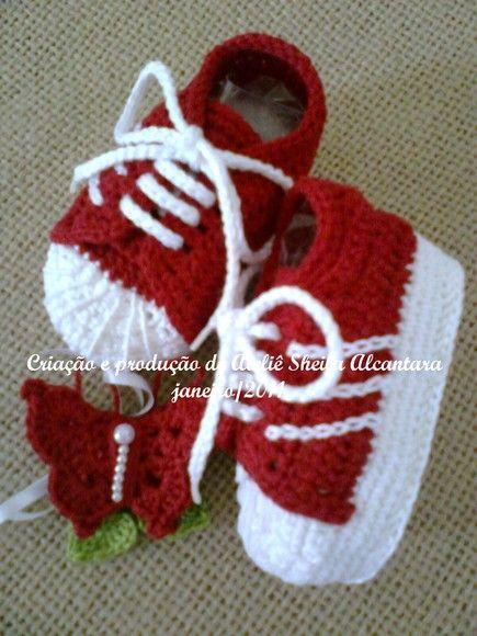 0eb13a5c9 Tênis bebê Adidas crochê ORIGINAL