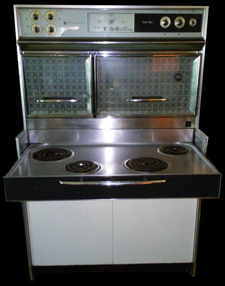Vintage 1961 Frigidaire General Motors Custom Deluxe Flair Oven Stove Ebay Wall Oven Vintage Stoves Stoves For Sale