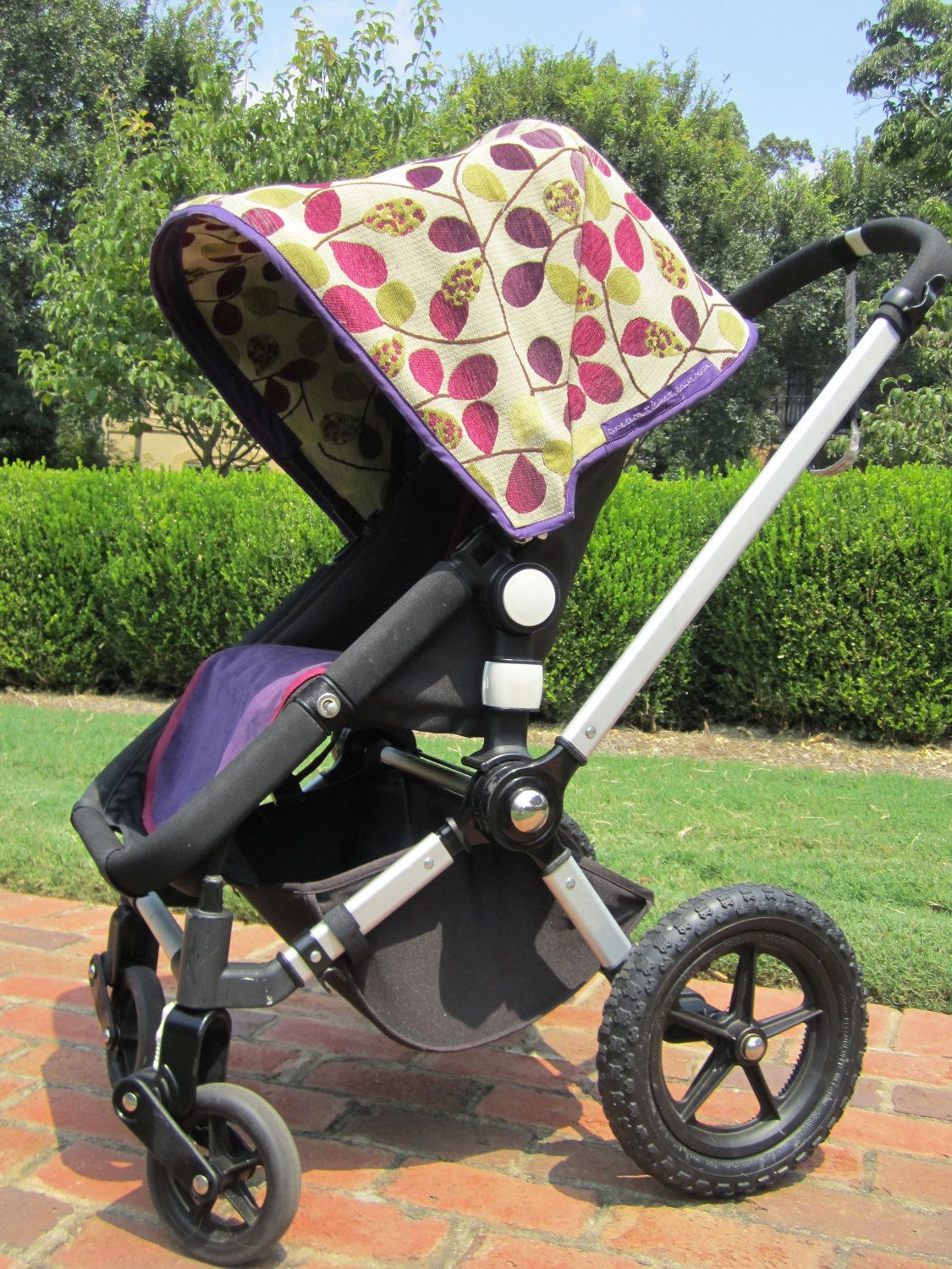 Custom Bugaboo Canopy Hood and Coordinating Seat Cover for