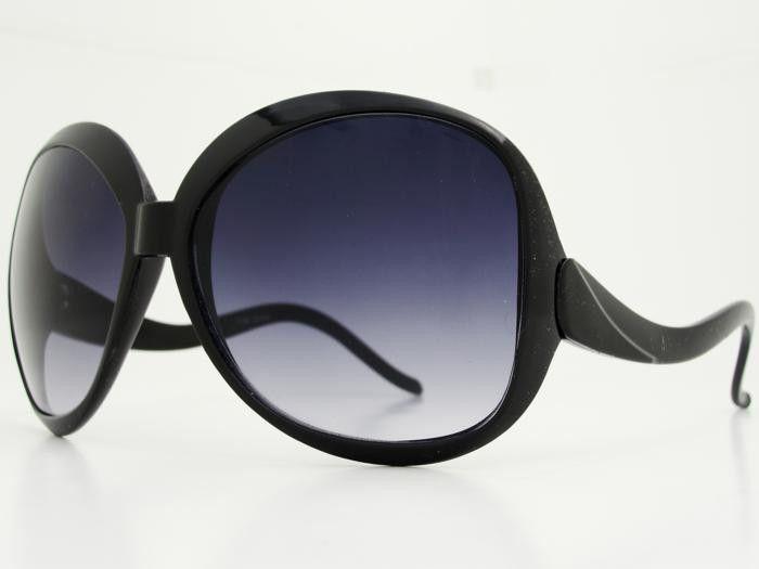 Retro Oversized Womens Sunglasses O031 Black