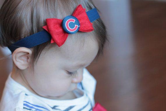 Chicago Cubs Baby Headband by georgiaandjane on Etsy  917ae5ea4e7