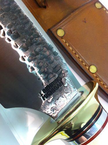 """Jim Behring Treeman Knives Hammermark Studebaker Alaskan Skinner Stag Knife 4 5""""   eBay"""