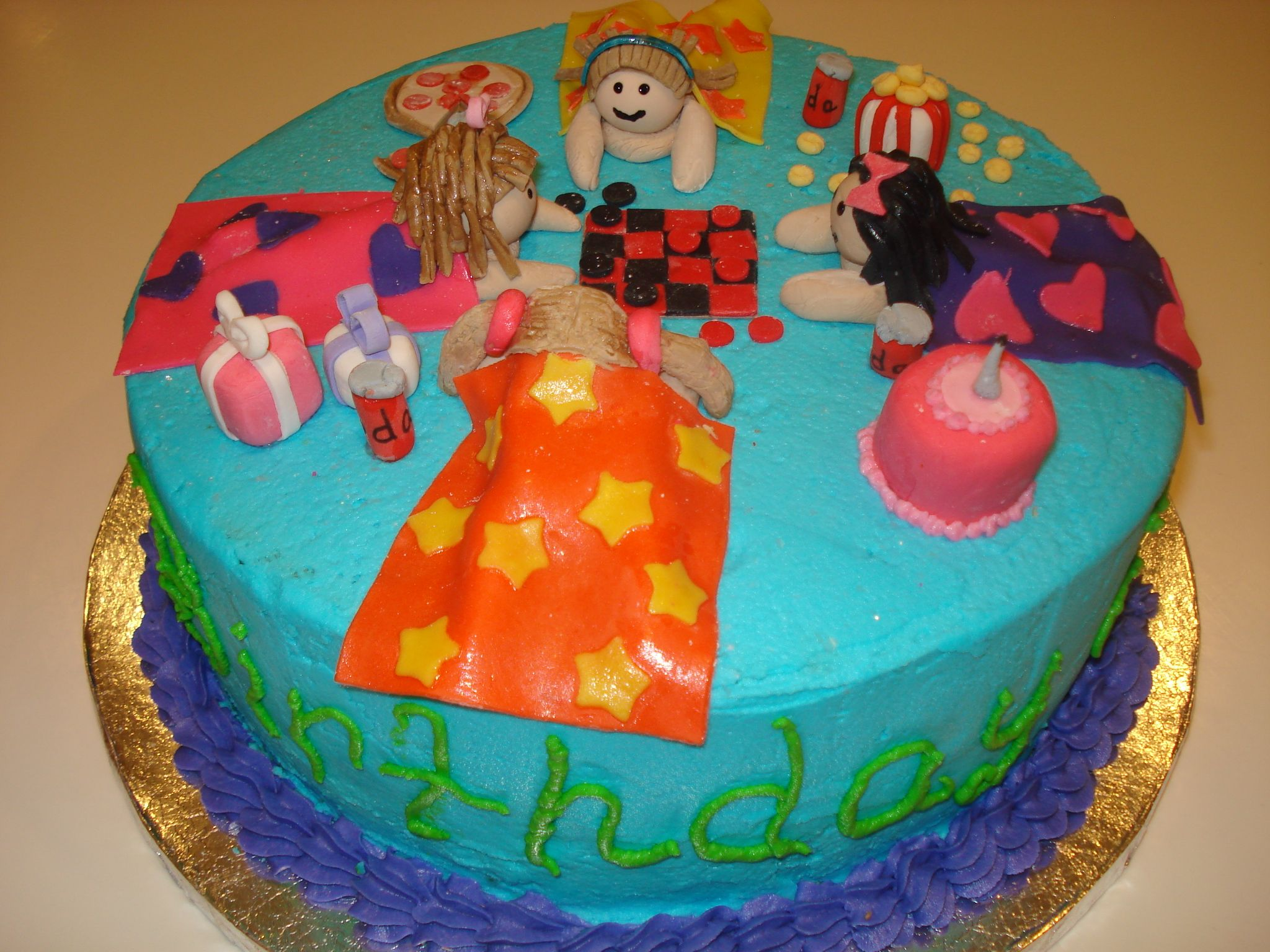 Slumber Party Birthday Cake Cake Ideas Pinterest Slumber