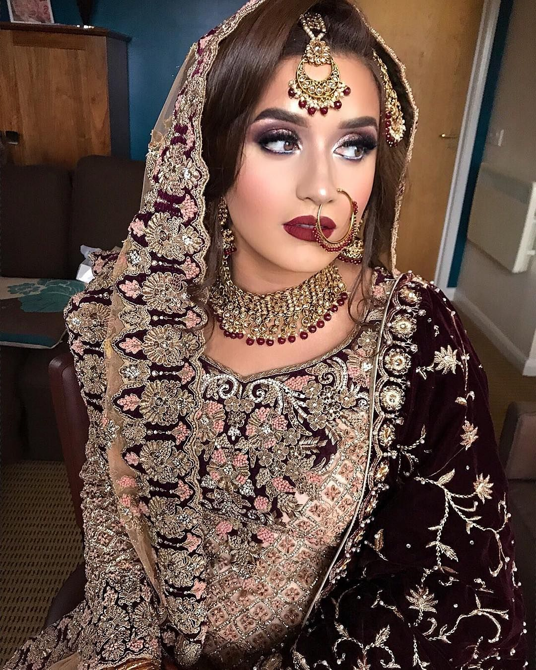 "Makeup Artist �� � on Instagram: ""Traditional Bridal with a modern twist ���� My gorgeous Regal bride from Today �� in love with this whole look️ Thankyou for putting your…"""