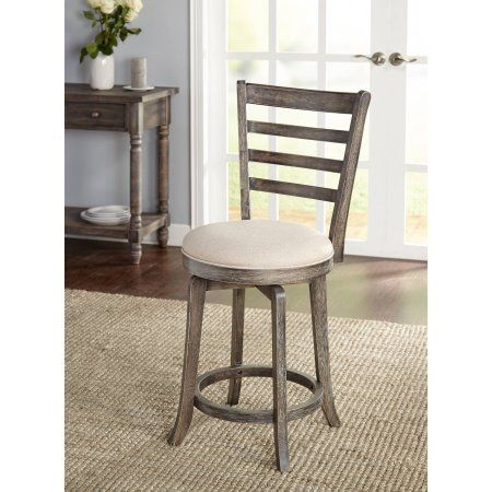Wondrous Ashton Burntwood Ladderback Swivel Counter Height Stool Gmtry Best Dining Table And Chair Ideas Images Gmtryco
