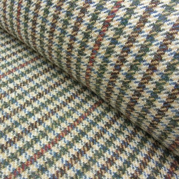 A beautiful Houndstooth Multicolored Blue checked Design