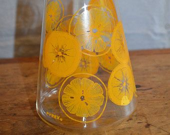 Vintage PYREX Lemonade/Orange JUICE PITCHER. Retro. ours was always filled with TANG