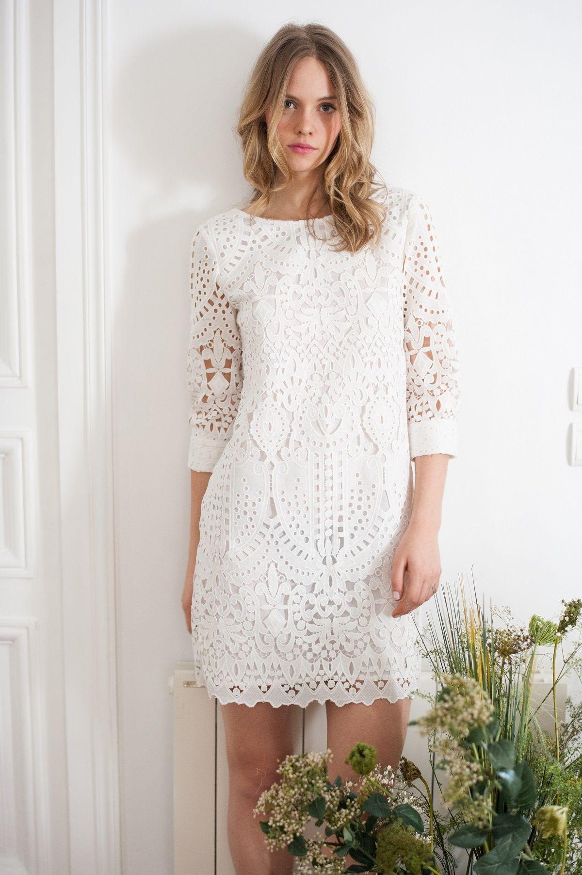 Vestido em renda | Vestido curto, Mini vestidos, Ideias fashion