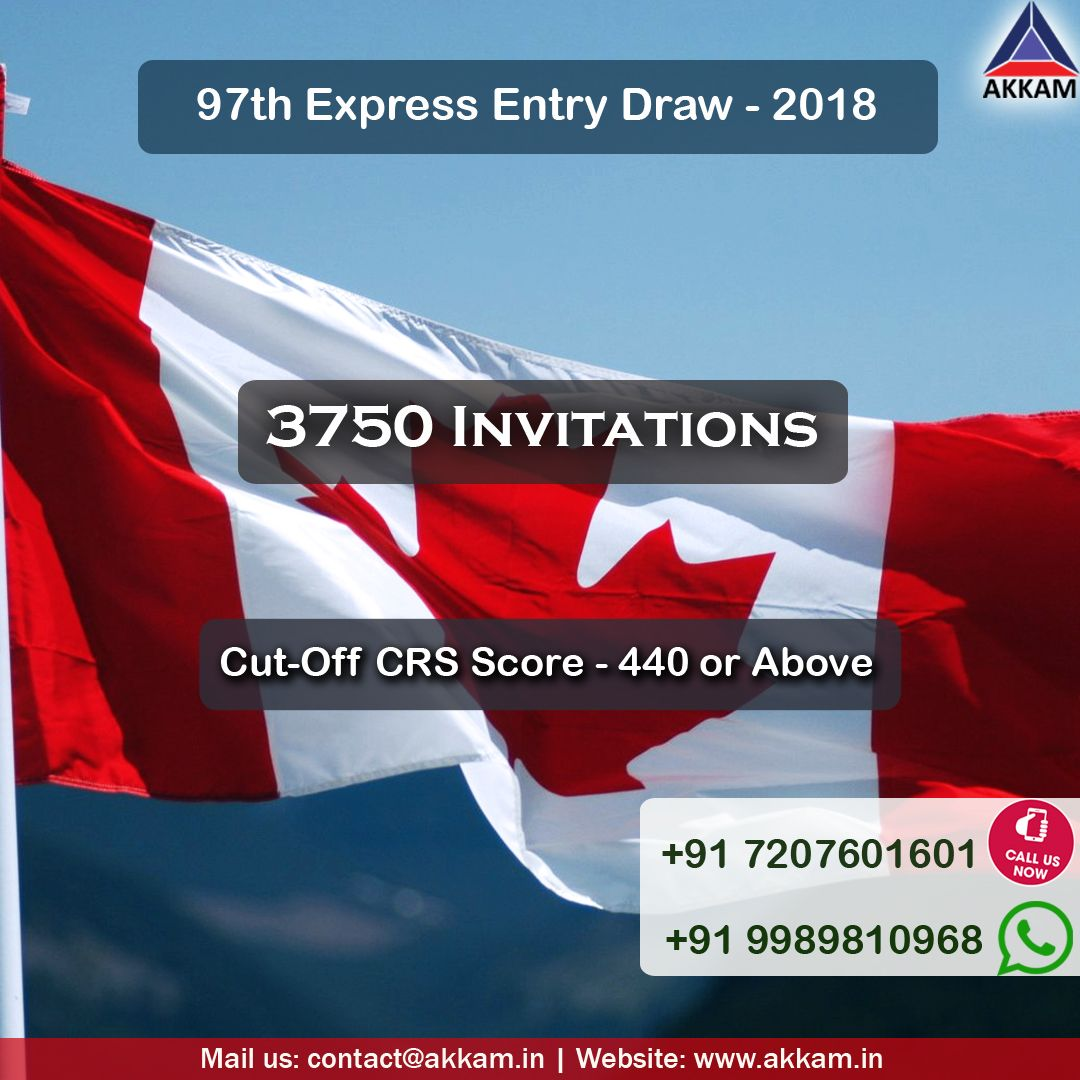 97th Express Entry Draw Issued 3,750 Invitations – Cut off