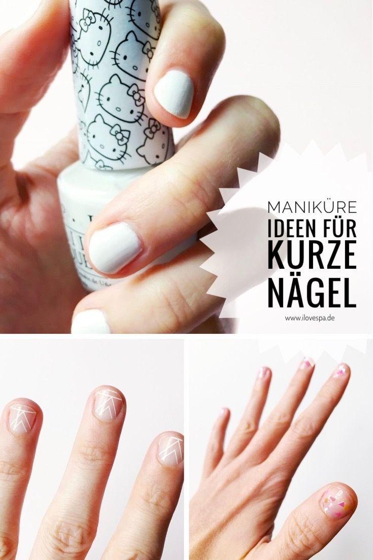 Schlichte Nageldesign Ideen für kurze Nägel - DIY Maniküre schlicht ...