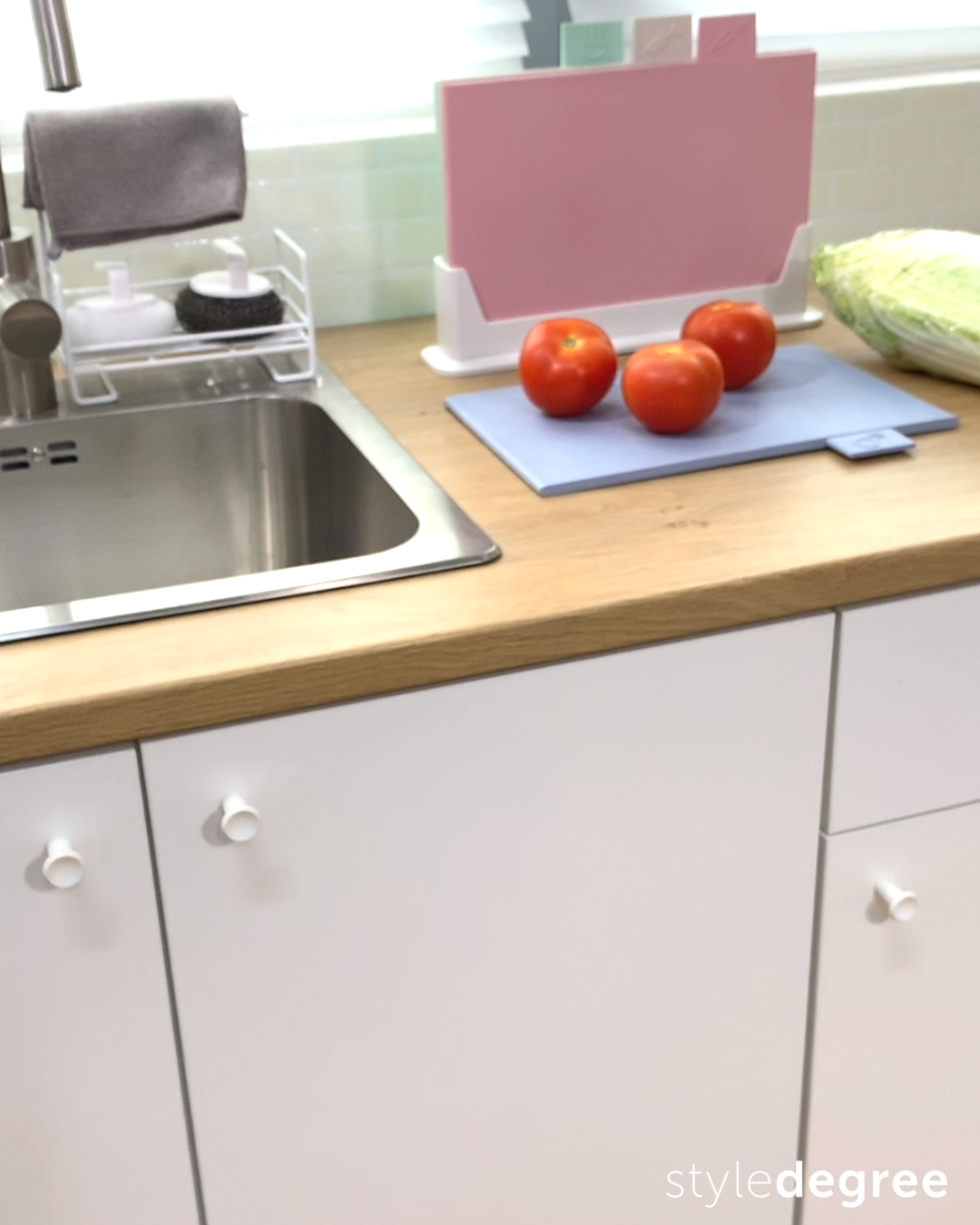Photo of Easy Hanging Kitchen Cabinet Dustbin