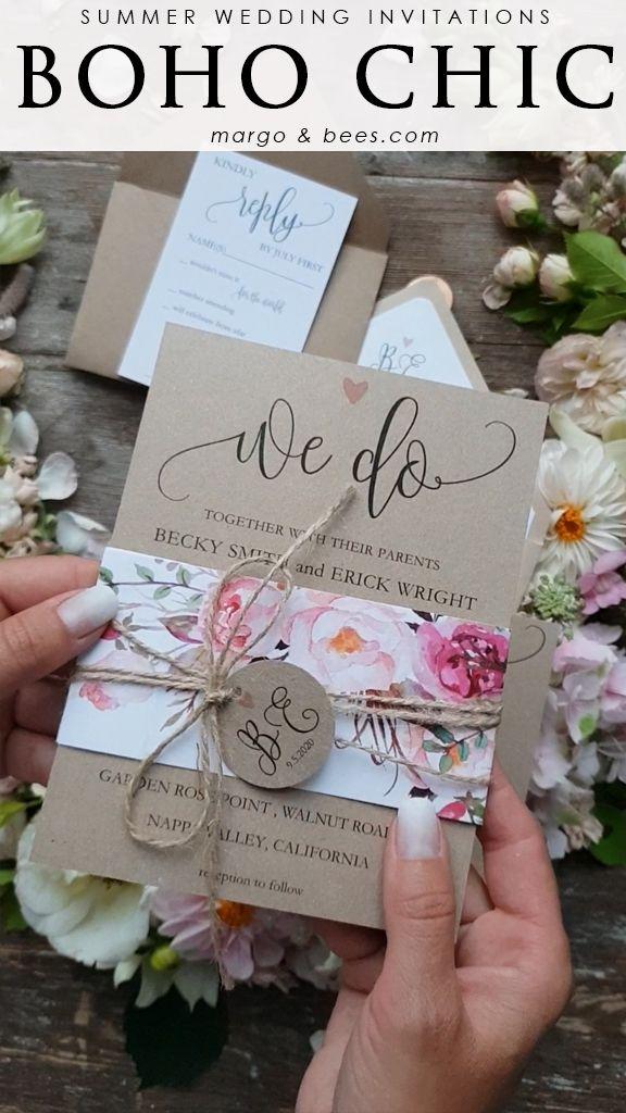 Invitaciones de boda personalizadas coloridas papelería romántica vegetación 001 / Wcg / z