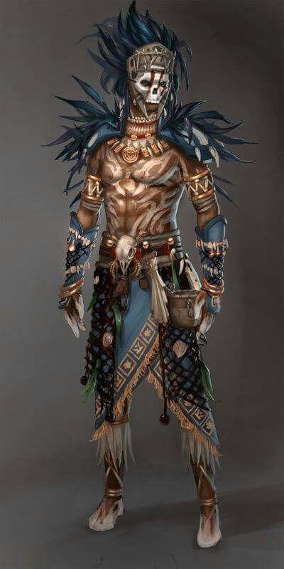 Art comic illustration drawing fantasy   Aztecas dibujos, Guerrero ...