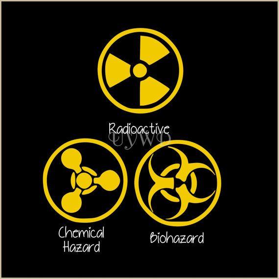 Vinyl Lettering Biohazard Radioactive By Useyourwordsdarling 4 50 X Ray Dress Chemical Hazard Symbols Hazard Symbol Vinyl Lettering