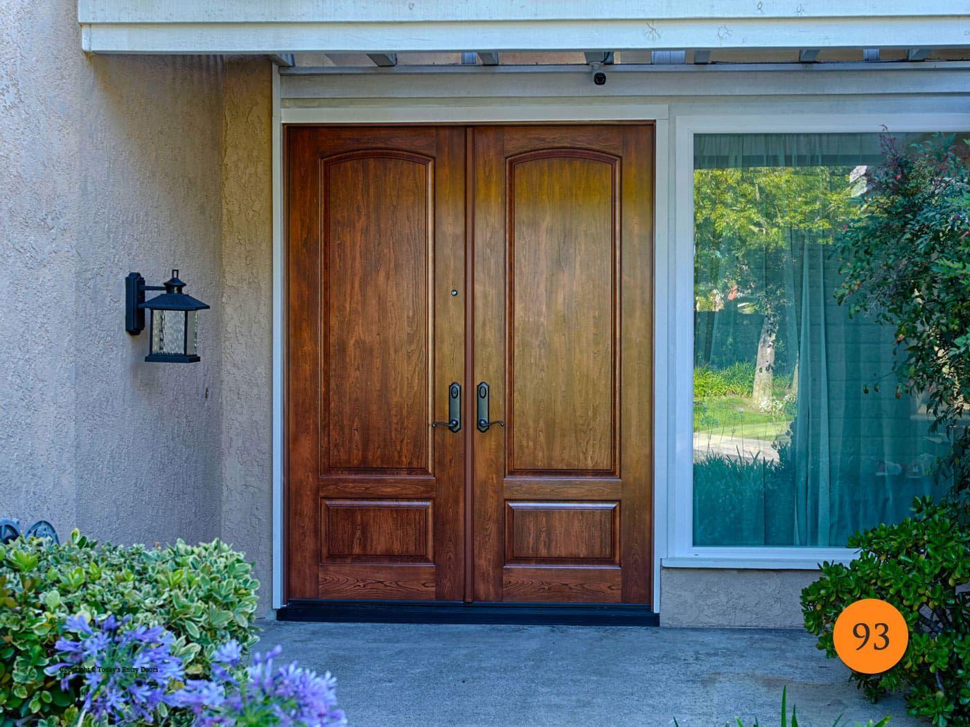 8 Foot Entry Doors 96 Tall Fiberglass Todays Entry Doors Double Doors Exterior Exterior Front Doors Double Front Doors
