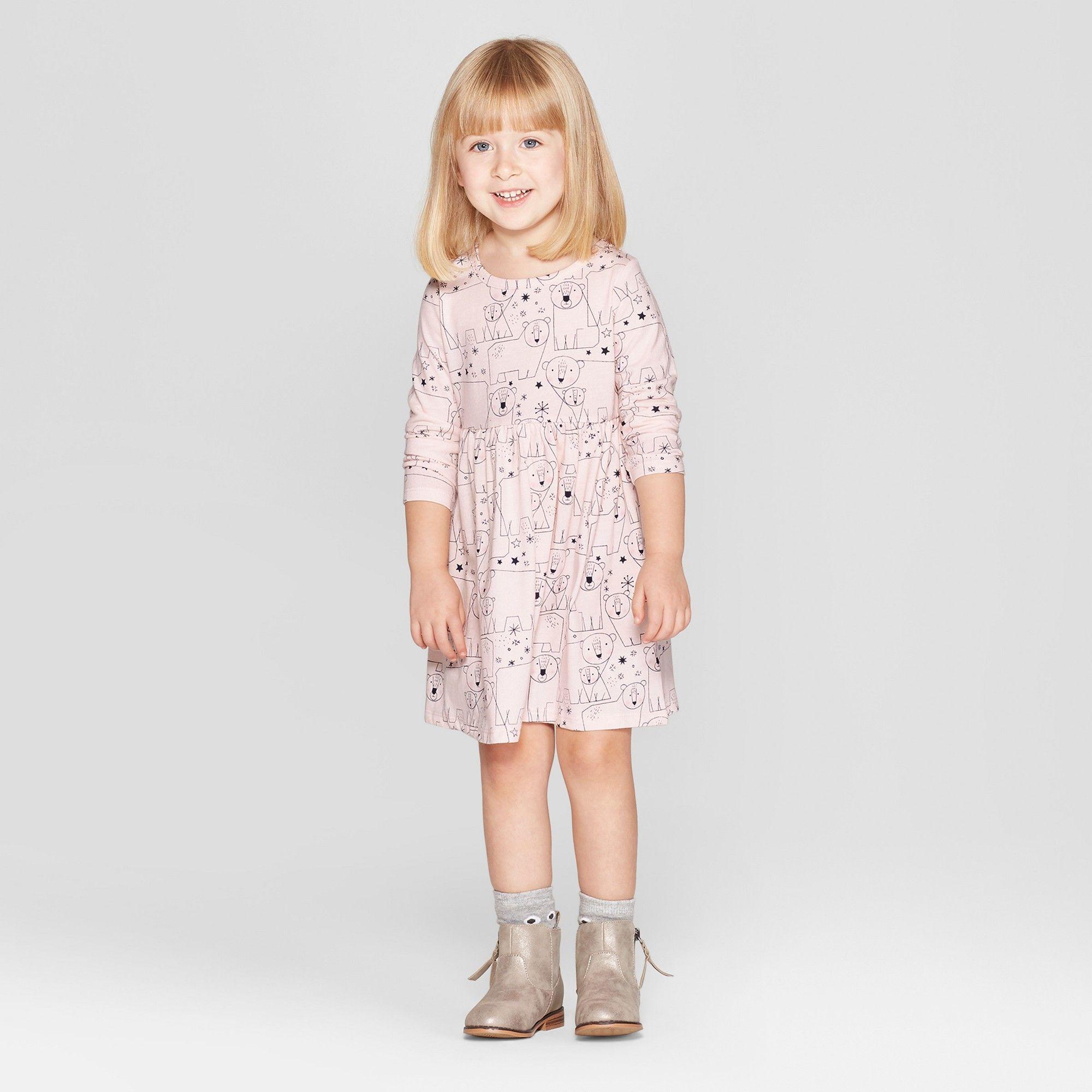 fc034ee2587 Toddler Girls  Bear All Over Print A-Line Dress - Cat   Jack Pink ...