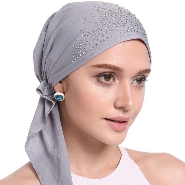 Fashion Muslim Women Lady Inner Hijab Cap Islamic Underscarf Headwear Hats  Gift 34c2d13abde