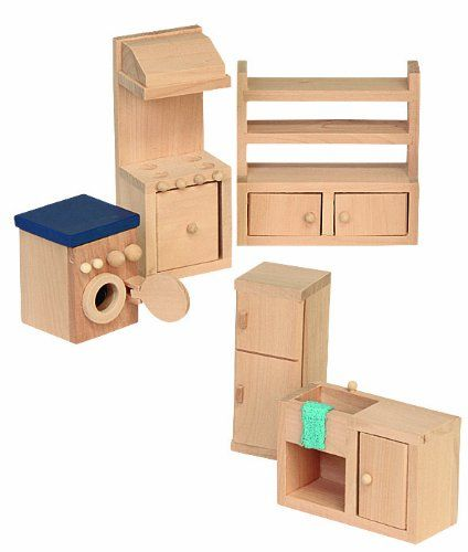 Beluga 70120 - Muebles de madera para la cocina de casa de muñecas ...