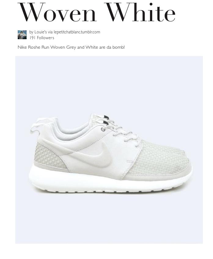 the latest 460d0 fdeb7 MINIMAL + CLASSIC Woven White - Nike Roshe Run