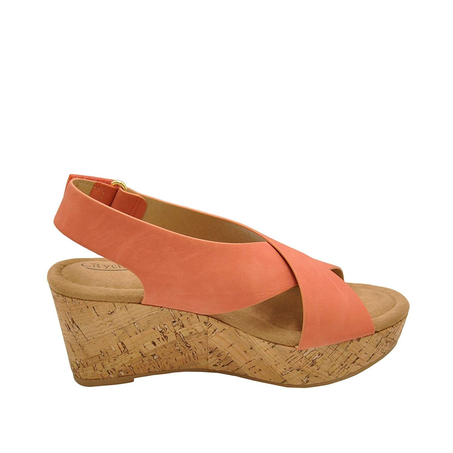 City Classified Mason Women S Crisscross Platform Cork Wedge Thanks A Lot For Viewing Our Photograph This Is Our Affi Wedges Stylish Wedges Wedge Sandals