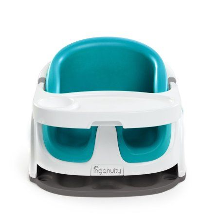 Booster Feeding Seat Ingenuity Baby Base 2-in-1 Seat Peacock Blue