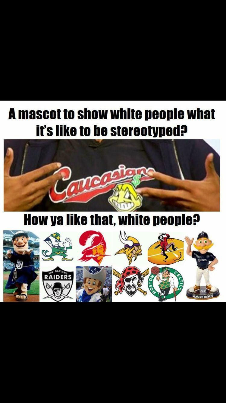 Professional mascots hypocrisy