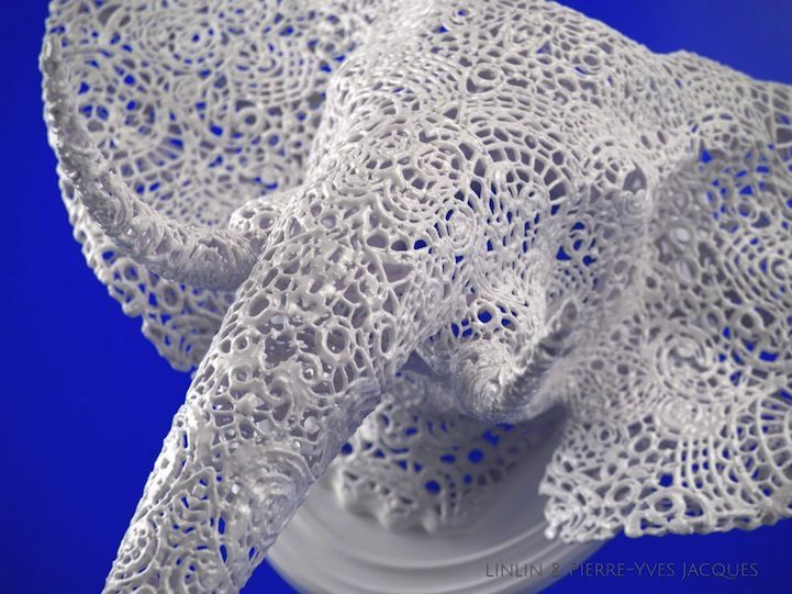 3D-Printed Taxidermy : animal lace