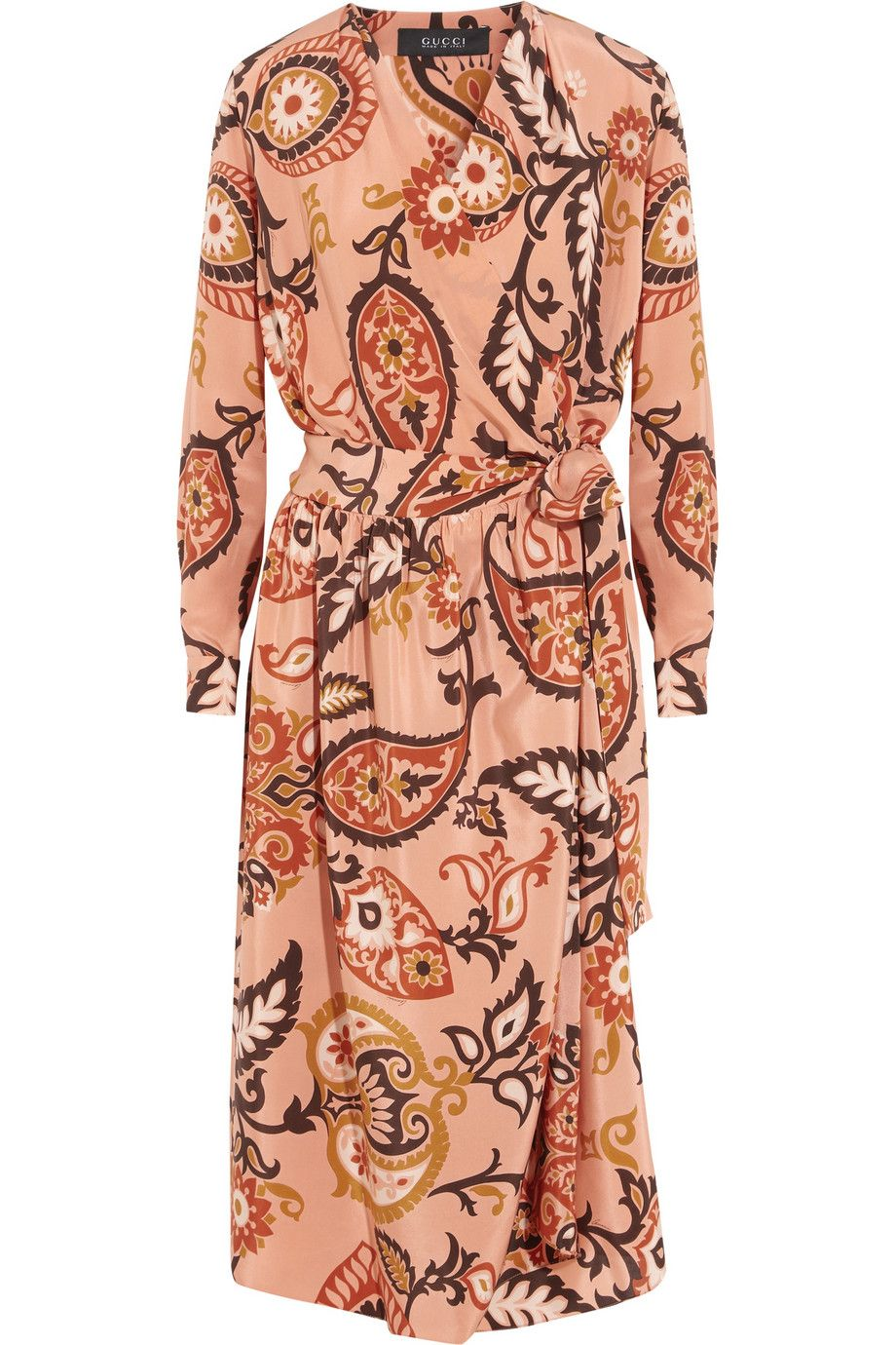 b3c416fae2b GUCCI Printed Silk Wrap Dress.  gucci  cloth  dress