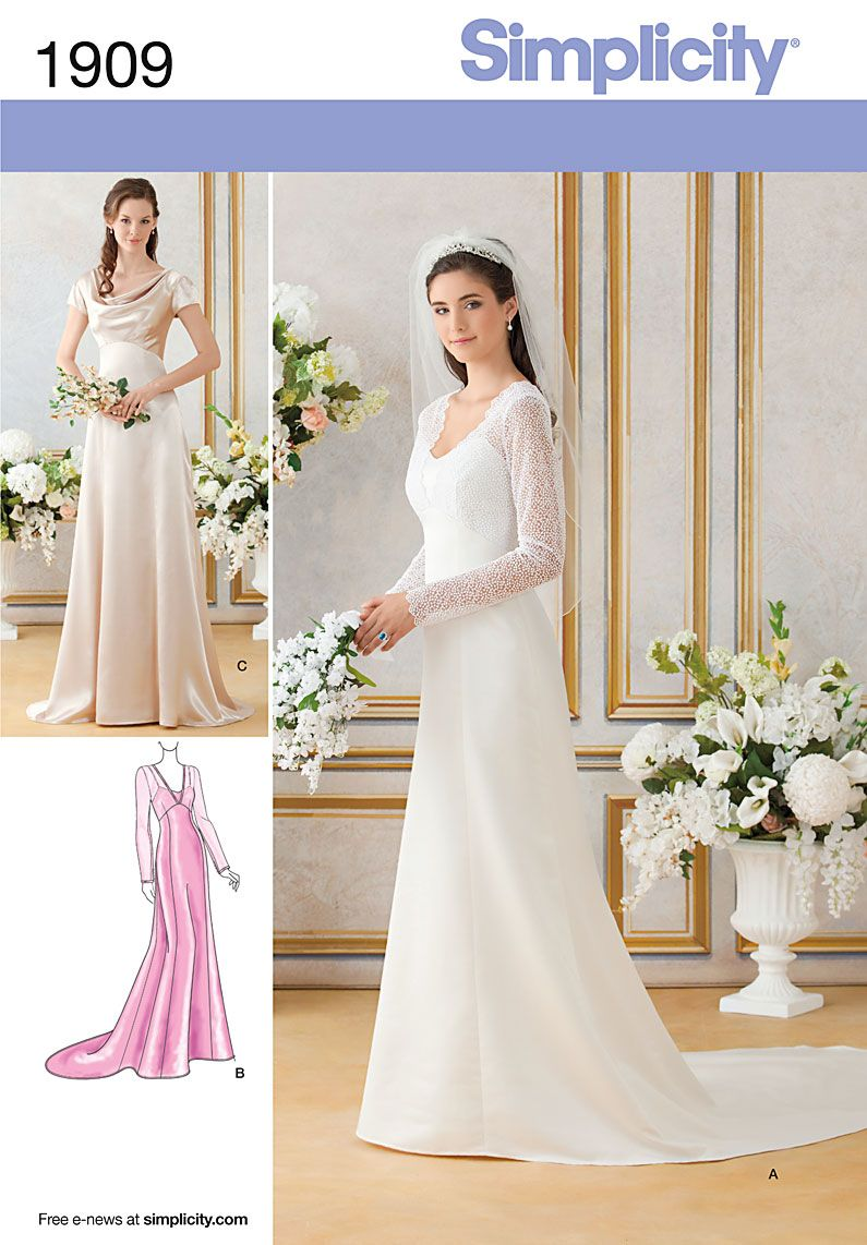 Royal wedding bridesmaid bridal formal gown dress sewing pattern ...