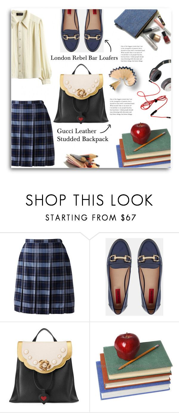"""""""Untitled #834"""" by mlka ❤ liked on Polyvore featuring Lands' End, Sonia Rykiel, London Rebel and Gucci"""