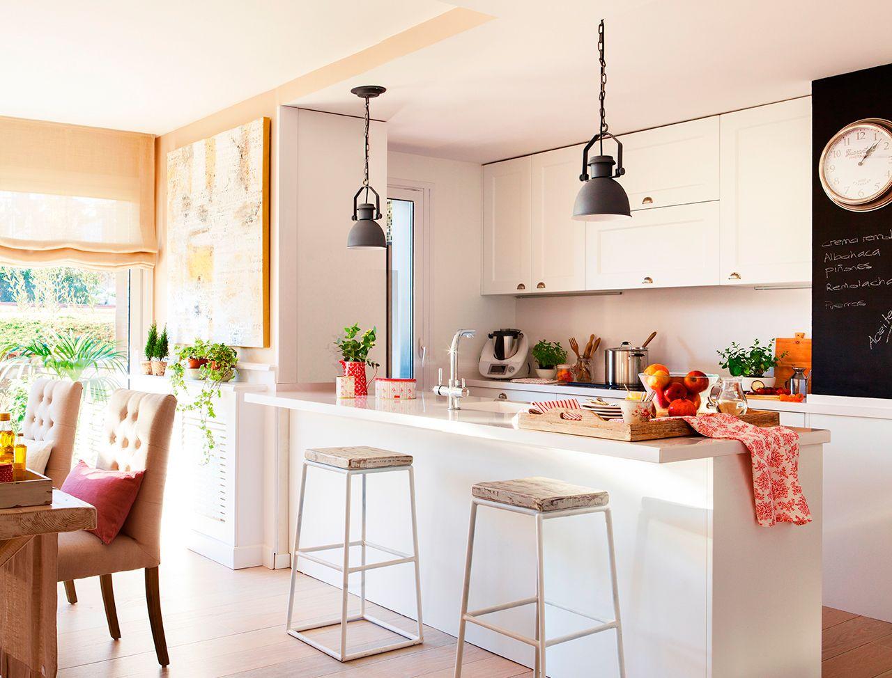 Isla Con Barra Cocinas Modernas Cocinas Pequenas Y Cocinas