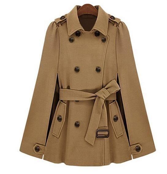 03e05a65f67 Women Winter Warm Coat Jacket Batwing Wool Blend Poncho Parka Loose Cloak  Cape  fashion  clothing  shoes  accessories  womensclothing   coatsjacketsvests ...