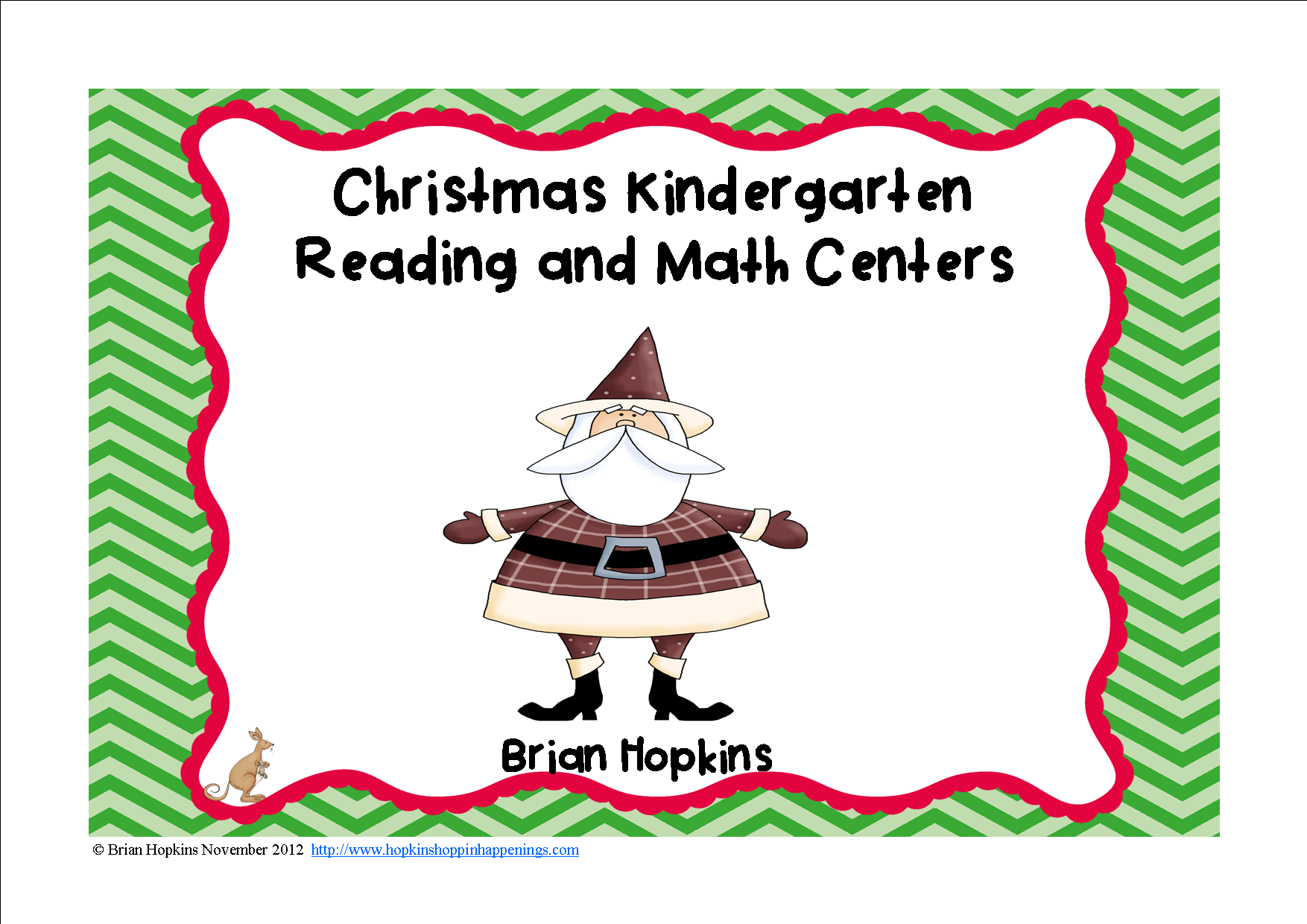 Christmas Kindergarten Reading And Math Centers