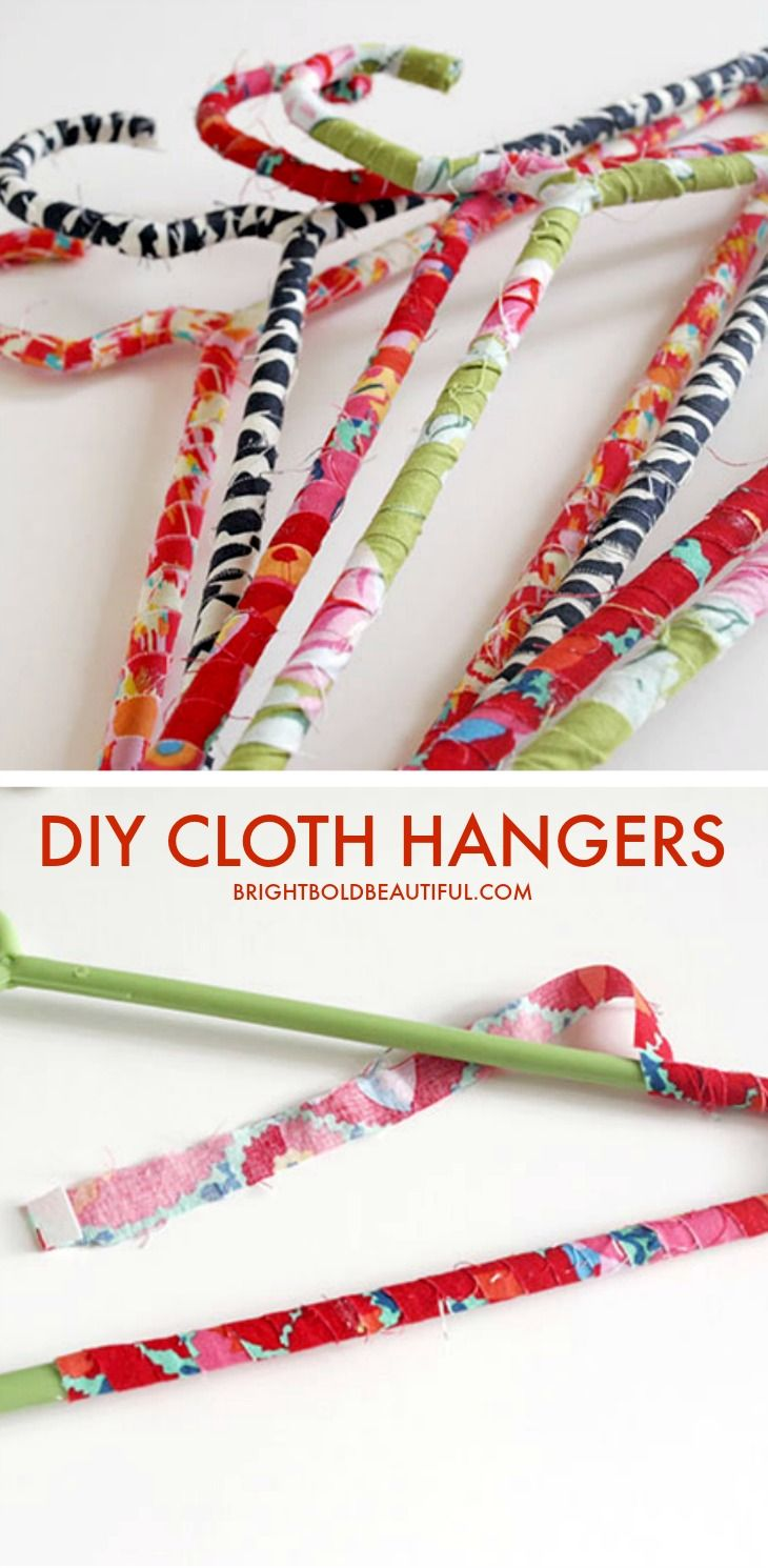Diy Fabric Wrapped Clothing Hangers Diy Clothes Hangers Diy