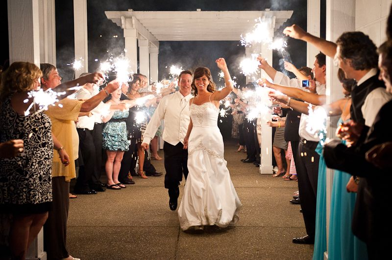 Wedding Sparklers Being Used As A Sparkling Exit Photo Courtesy Of Craig Photography Pittsburgh