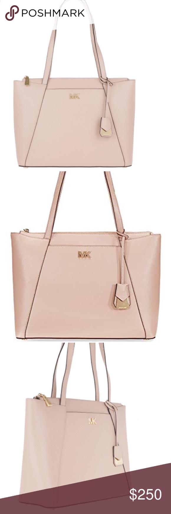 d8f5f69ff319 Michael Kors Maddie Soft pink tote. Michael Kors Maddie Medium Crossgrain  Leather Tote in Soft Pink. Michael Kors Bags Totes