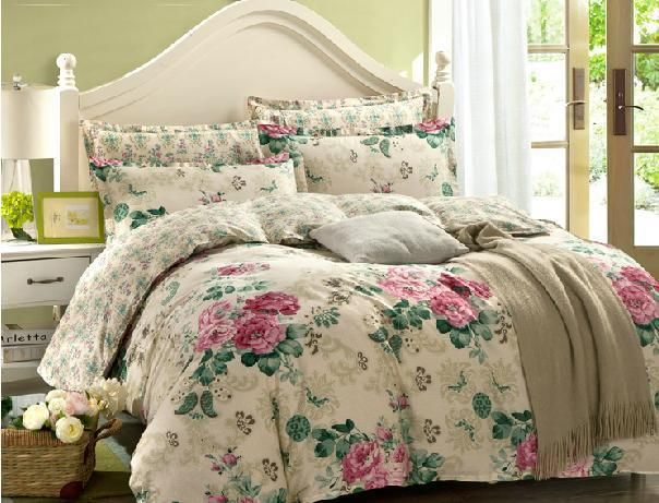 4pc bedding set 100% cotton twin full queen king four size  Yesterday's price US $57 81 (50 54 EUR)  Today's price US $39 31 (34 36 EUR)  Discount 32%  is part of Floral bedding sets -