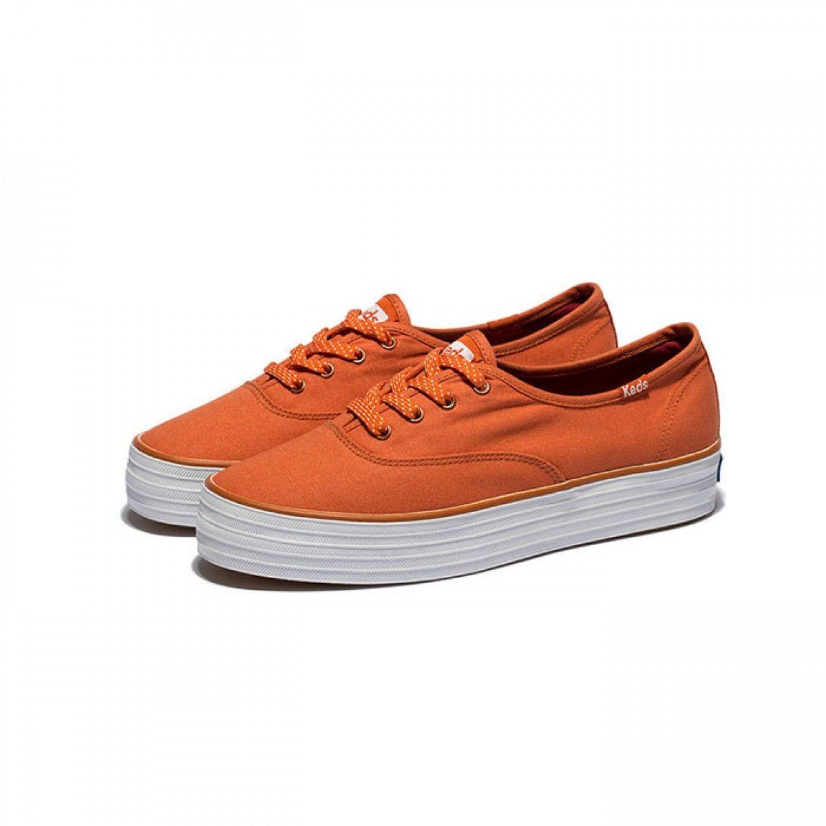 1f97680bf2849 Womens Keds Shoes Orange Champion Triple Classic Canvas