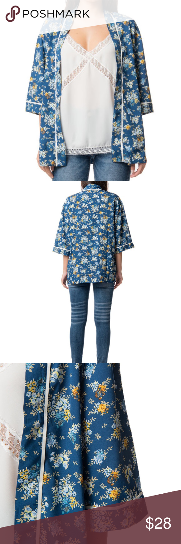 Floral Printed Kimono NWT sample from our showroom 3/4