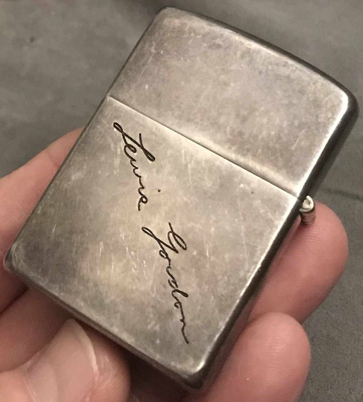 Ad Vintage 1950s Sterling Silver Zippo Windproof Lighter Engraved Lewis Gordon As A Member Of The Ebay Partner Network I Earn From Qualifying Purchases
