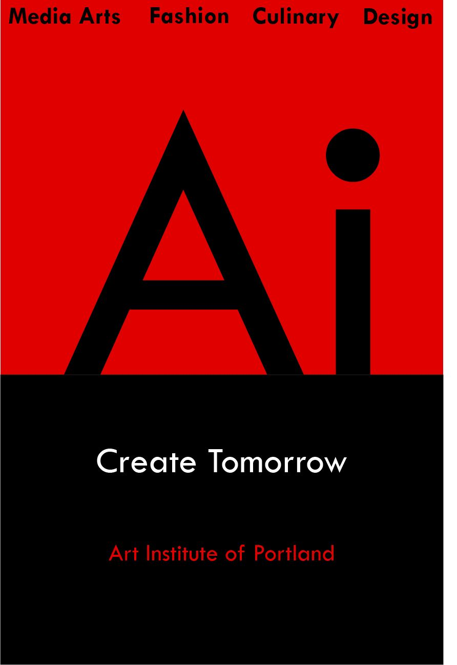 a poster for the art institute of portland in the modernist style