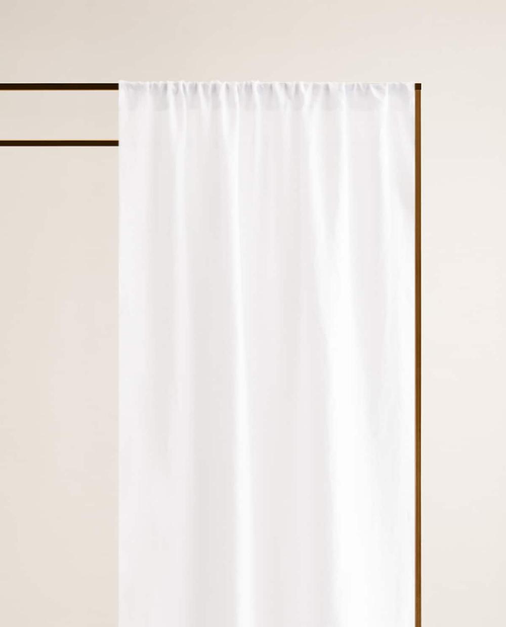 Washed Linen Curtain In 2020 Leinenvorhang Vorhange Wohnzimmer