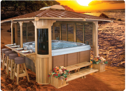 Got The Hot Tub Wonder If I Could Talk Hubby Into Rest Oh But Would Def Want Top To Be Removable And Automatic Of Course