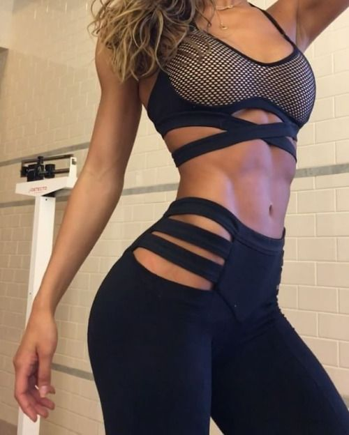 Girls workout Black sexy